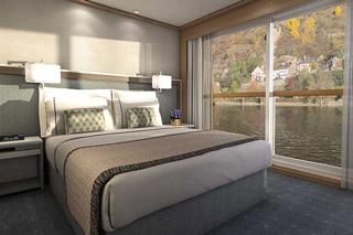 Oceanview cabin on Viking Ve