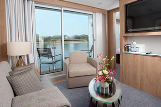 Suite cabin on Viking Vili