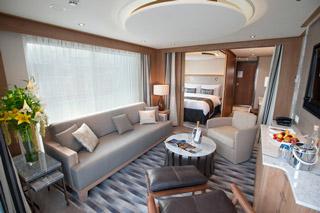 Suite cabin on Viking Vili