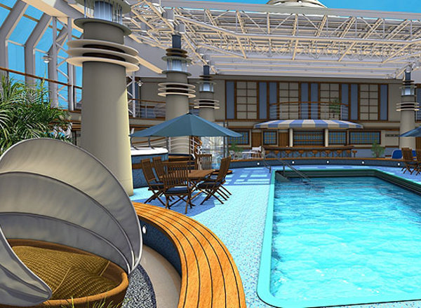 Serenity Pool & Bar on Britannia