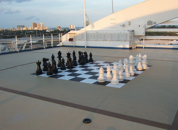 Deck Chess on Caribbean Princess
