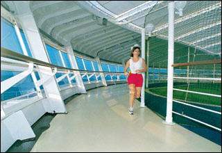 Jogging Track on Caribbean Princess