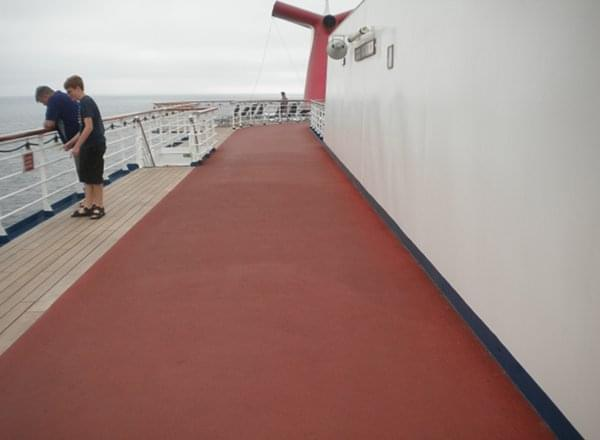Jogging Track on Carnival Conquest