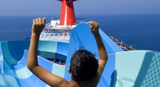 Slide Entrance on Carnival Conquest