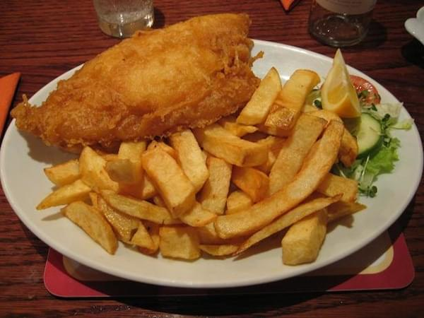 Fish and Chips on Carnival Conquest