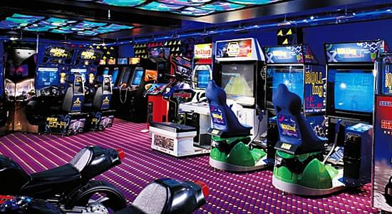 The Warehouse Video Arcade on Carnival Dream