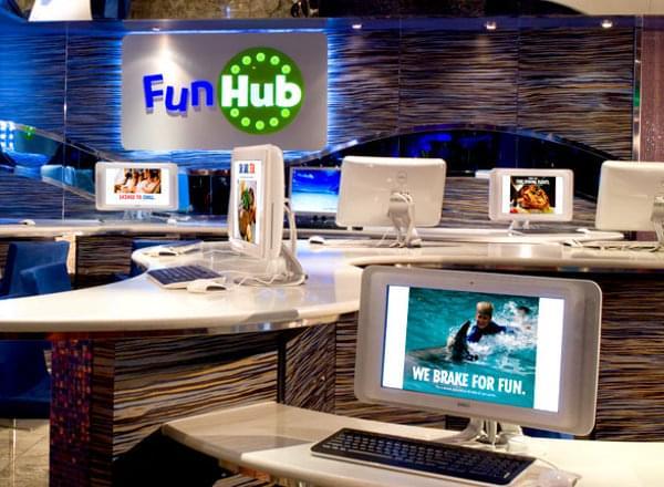 The Fun Hub Internet Station on Carnival Dream