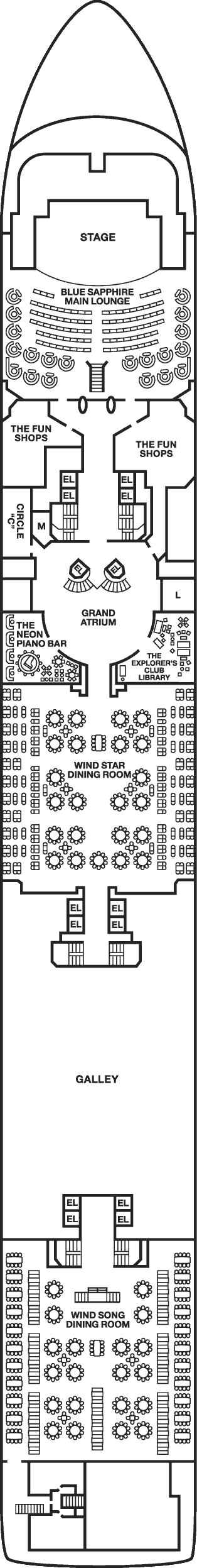 carnival ecstasy deck plans