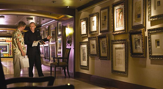 Art Gallery on Carnival Elation