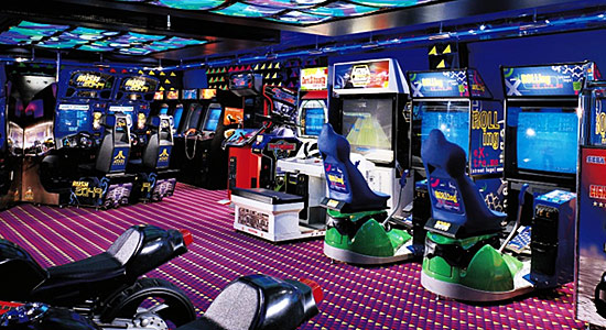 Video Arcade on Carnival Elation