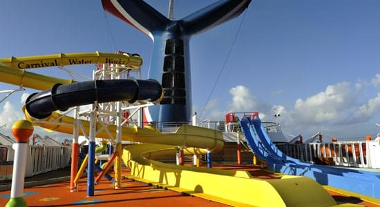 Carnival Waterworks on Carnival Fantasy