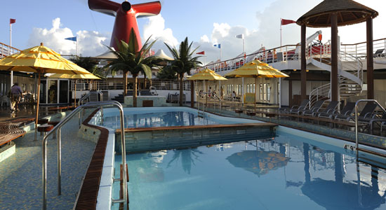 Resort Style Pool on Carnival Imagination