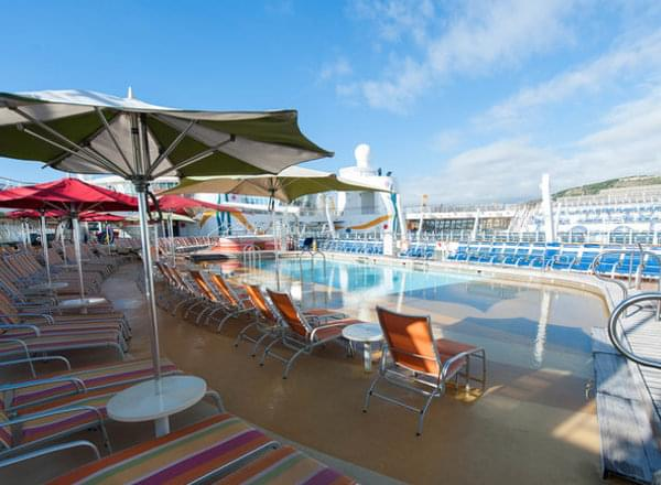 Coney Island Pool on Carnival Liberty