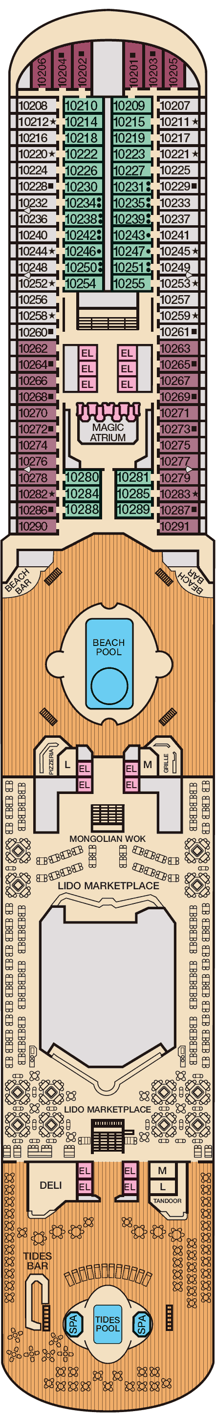Carnival magic deck plans sky sun spa panorama lido baanklon Choice Image