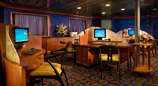 Internet Cafe on Carnival Miracle