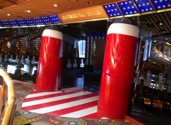 America Piano Bar on Carnival Paradise