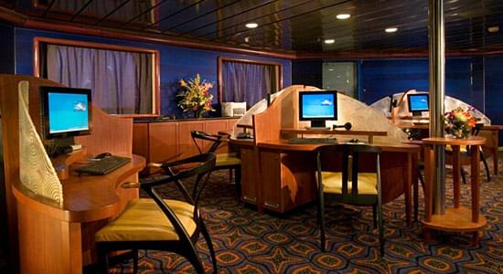 Internet Cafe on Carnival Triumph