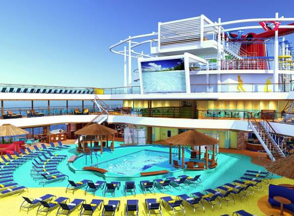 Beach Pool on Carnival Vista
