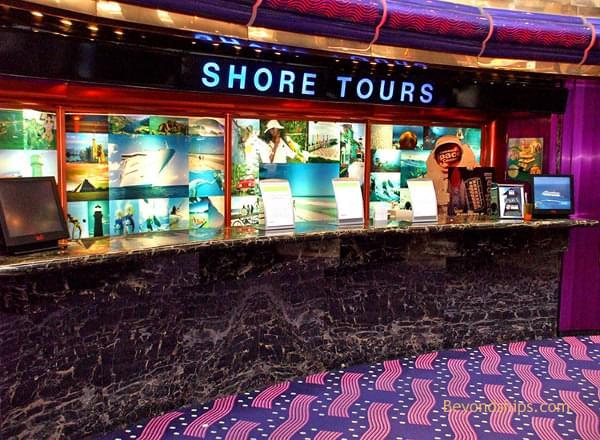 Shore Excursion Desk on Carnival Vista