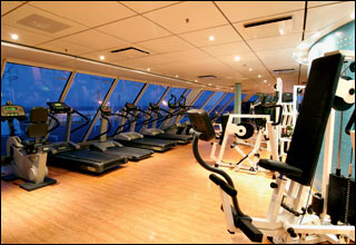 Gym on Costa Voyager