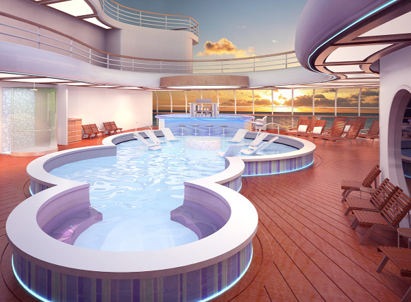 Quiet Cove Adult Pool on Disney Magic