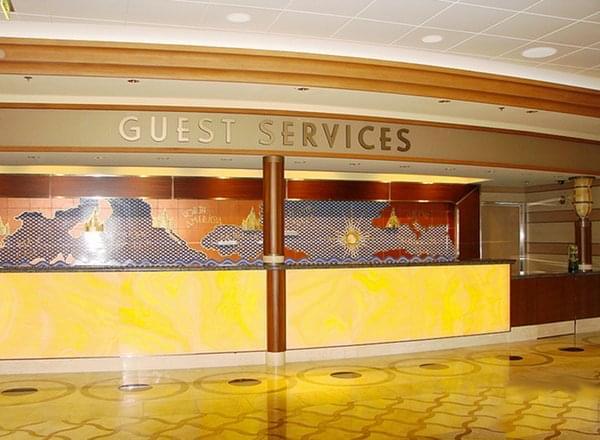 Guest Services/Excursions Desk on Disney Wonder