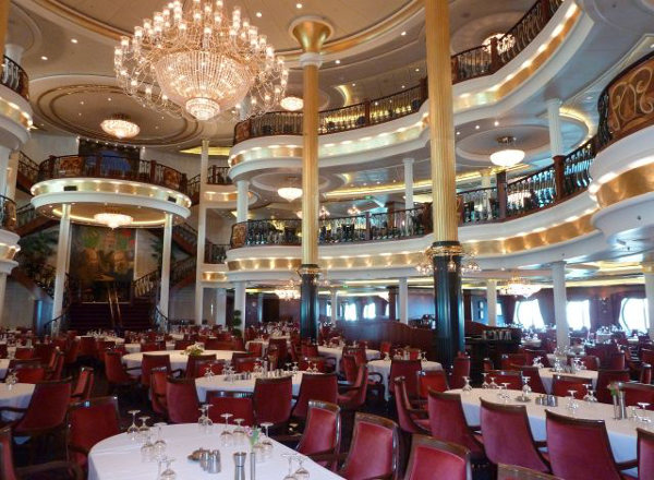 The Main Dining Room on Empress of the Seas