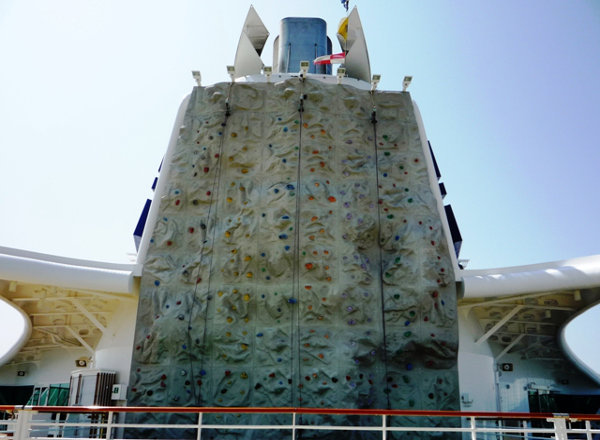 Rock Climbing Wall on Empress of the Seas