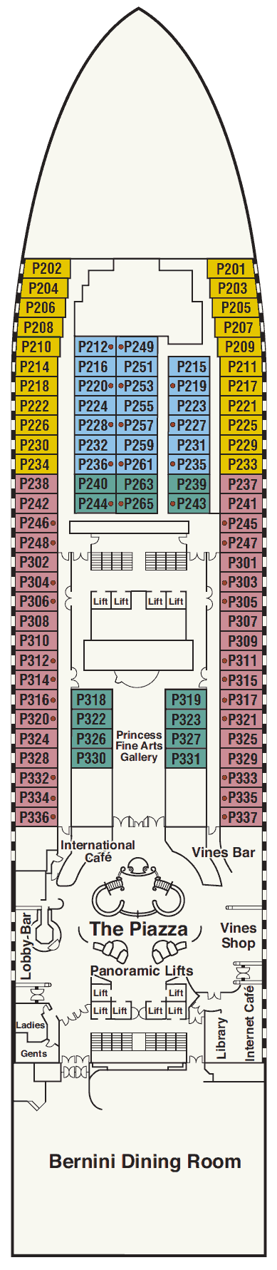 Princess Cruises Golden Princess Deck Plan