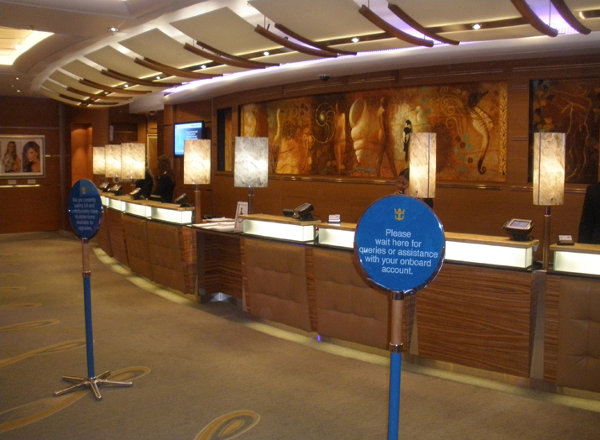 Shore Excursions Desk on Harmony of the Seas