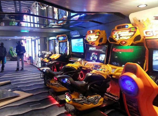 Video Arcade on Jewel of the Seas
