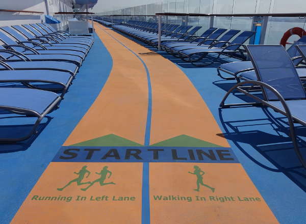Running Track on Jewel of the Seas