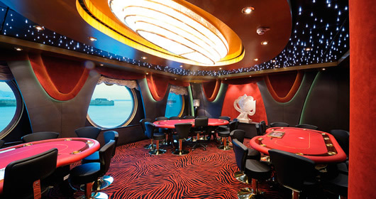 Poker Room on MSC Fantasia
