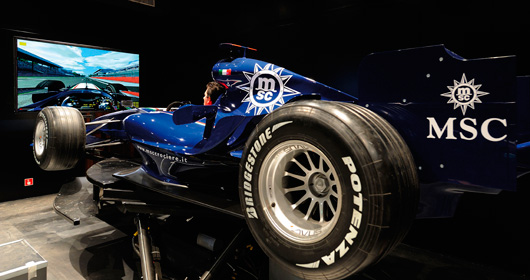F1 Simulator on MSC Fantasia