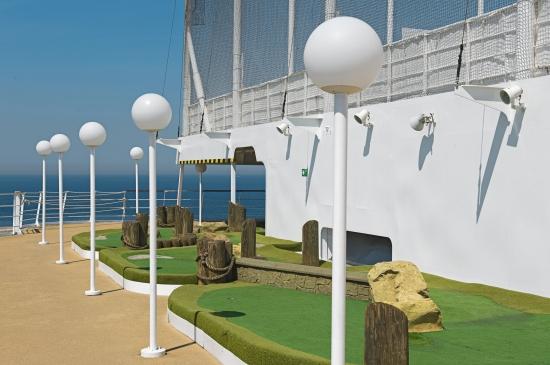 Golf Practice on MSC Lirica