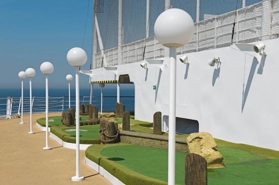Golf Practice on MSC Magnifica