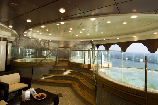 Jacuzzis on MSC Sinfonia