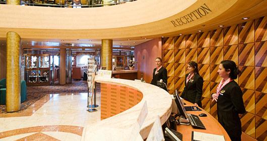 Reception Area on MSC Sinfonia
