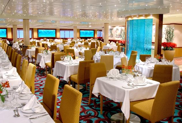 Aqua Main Dining Room on Norwegian Dawn