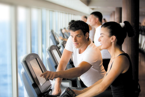Fitness Center on Norwegian Escape