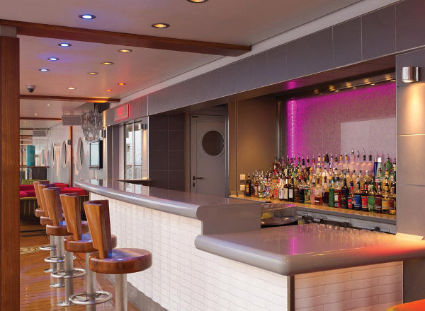 Shaker''s Cocktail Bar on the Waterfront on Norwegian Getaway