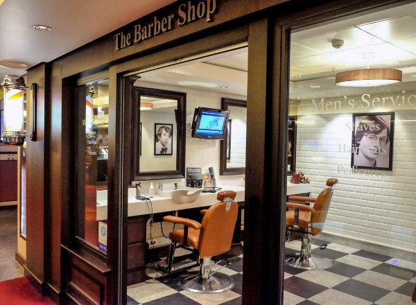 Barber Shop on Norwegian Getaway