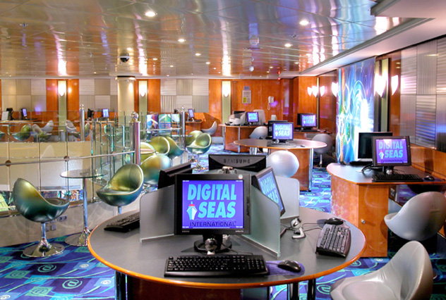 Internet Cafe on Norwegian Jade