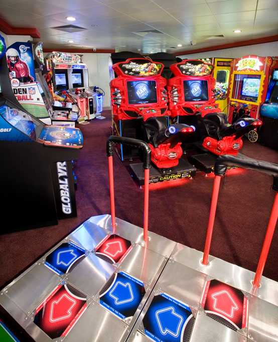 Video Arcade on Norwegian Pearl
