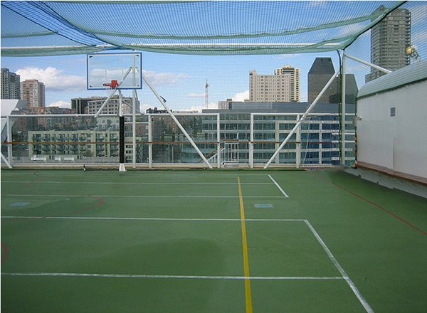 Basketball/Volleyball Court on Norwegian Pearl