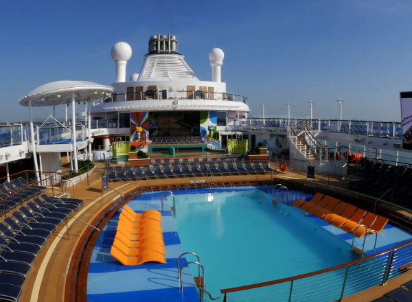 Outdoor Pool on Ovation of the Seas