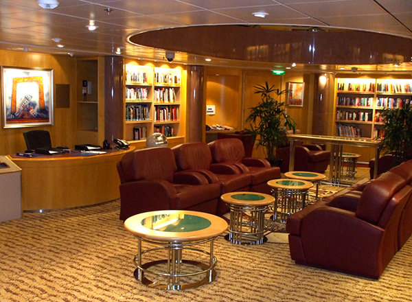The Library on Ovation of the Seas