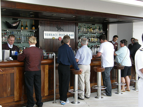 Terrace Bar on Queen Mary 2
