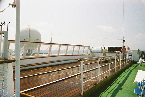 Shuffleboard on Queen Mary 2