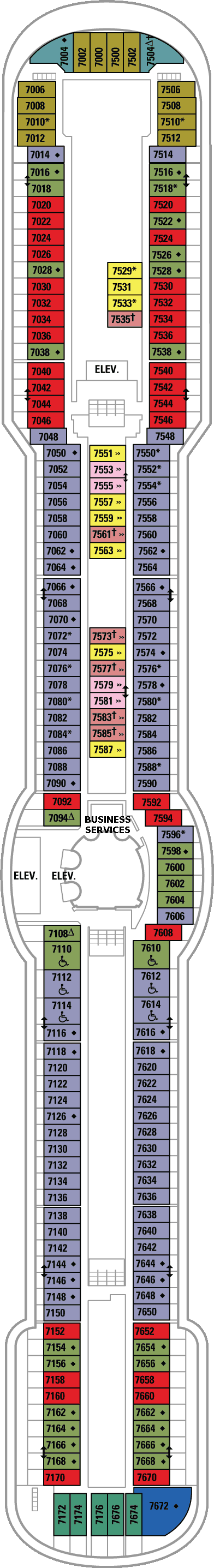 Radiance of the Seas Deck Plans